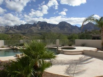Tucson house rental - Patio Pool and the Catalinas