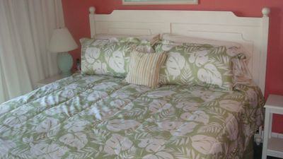 New King Size Bed in Master Bedroom