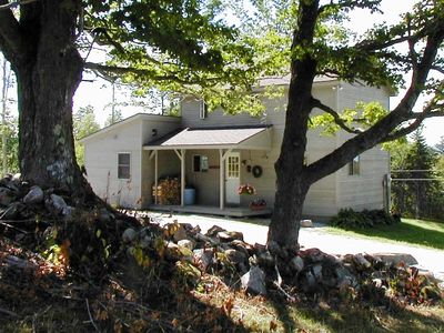 Belmont cottage rental - private setting on a hill overlooking Star Lake and mountains beyond