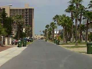 South Padre Island house photo - Street view 1/2 block to the beach.