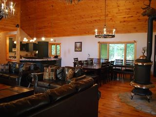 Branson house photo - Open Dining Room and Great Room for Large groups!