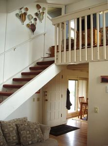 Stairs leading to loft.