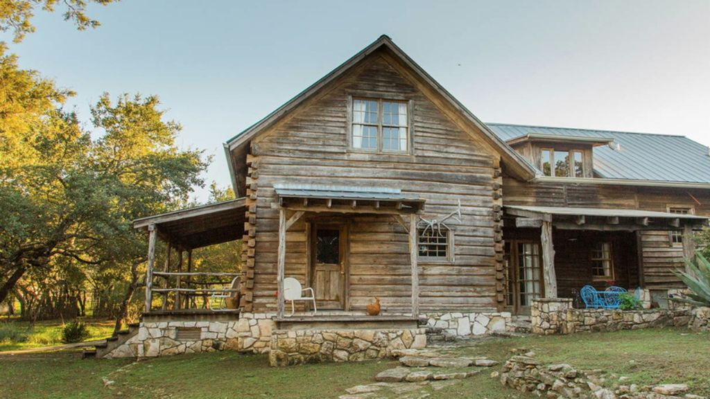 Relax in a wooden work of art nestled in the beautiful hill-country.
