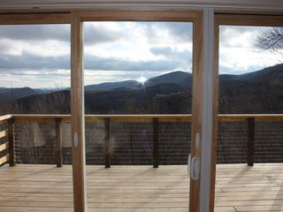 Killington house photo - Okemo Mtn. ski trails in the distance to the south