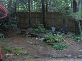 Highlands cabin photo - Pond & Waterfall - Next to the Entranceway to the Cabin.