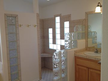 Walk in shower/Master bedroom