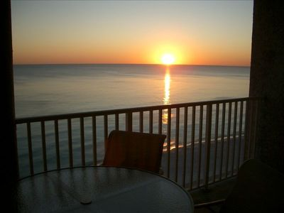 World famous Gulf of Mexico sunset from your private balcony.