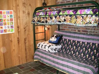 Traverse City house photo - Bunkbeds (bottom folds out to double bed; top single) in second downstairs bdrm