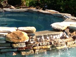 Hot Tub with heated Lagoon Pool
