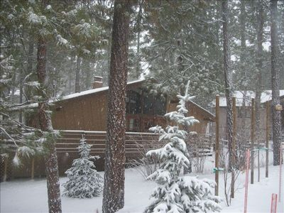 First snow of 2010 (Front of the cabin)