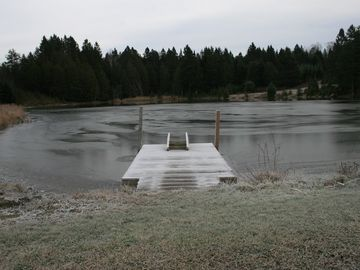 First ice on the pond 11/7/2012.