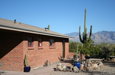 Front view of house - what a view of the surrounding desert and mountains!!!