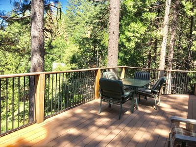 Enjoy yourself on the secluded deck.