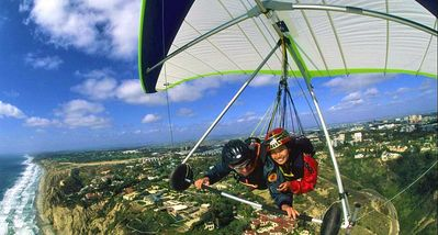 If you want to add excitement to your vacation go hang gliding at Torrey Pines.