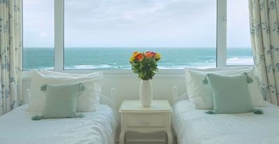 Twin room with sea views
