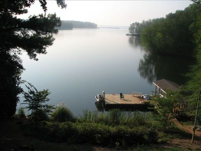 incredible main lake view with 8' water off dock!!