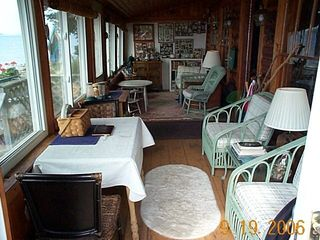 Grand Lake Stream cabin photo - Lakeside Porch