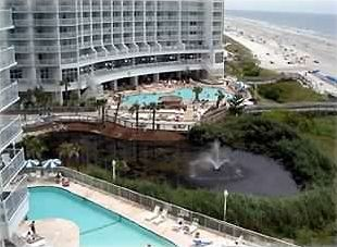 Arcadian Shores condo rental - Balcony view