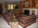 Living Area - TV, Wood Fireplace, Sleeper Sofa, Private Balcony - Beaver Creek townhome vacation rental photo