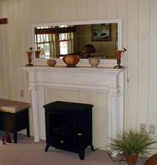 Mantle in living room - Old Orchard Beach house vacation rental photo