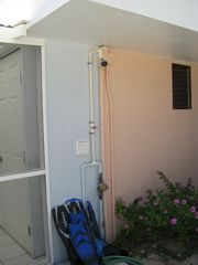 Grand Cayman condo photo - Convenient shower at the back lanai