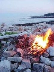 Southwest Harbor house photo - Private Beach Campfire