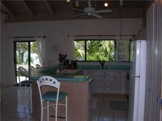 Elbow Cay and Hope Town estate photo - Open kitchen and breakfast bar.