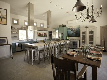 Paso Robles house rental - Refugio kitchen from the lounge area