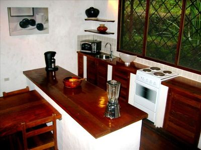Manuel Antonio villa rental - a place to cook and grill (on the deck)