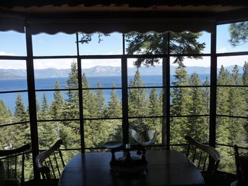 Cedar Flat cabin rental - Lake view from living room