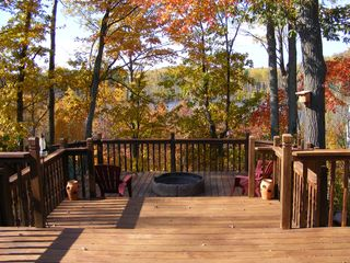Birchwood cabin photo - deck in the fall