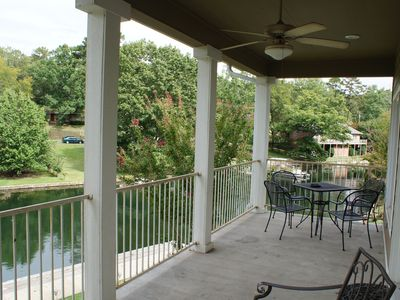 Upper balcony view of boat ramp