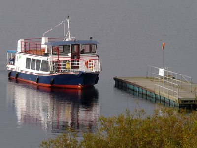Kielder Water cruise boat. Tower Knowe