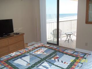 Gulf Shores condo photo - Master bedroom with sliding glass door to balcony.