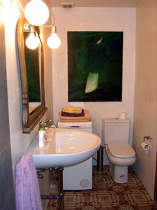 Refurbished bathroom with large walk-in shower