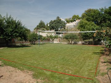 Full size badminton area (or football pitch!)