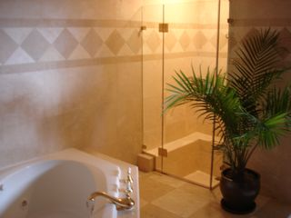 Tiburon house photo - All bathrooms have Italian marble walls and floors with elegant designs