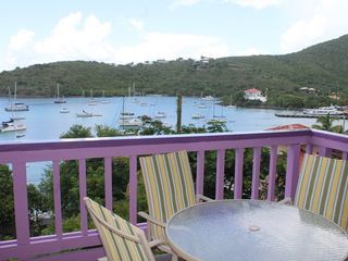 Cruz Bay condo photo - Watch the boats at anchor from your private balcony overlooking Cruz Bay Harbor
