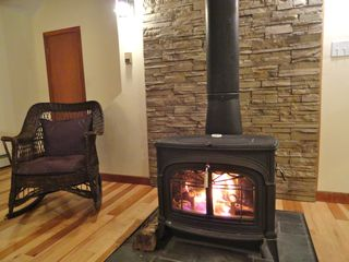 Ludlow house photo - Enjoy an evening by the wood burning stove