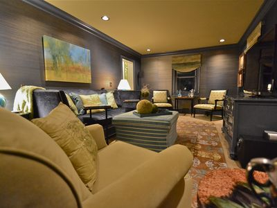 Skaneateles Lake, Skaneateles house rental - TV room with large sofa and plenty of seating. 55 LCD television.