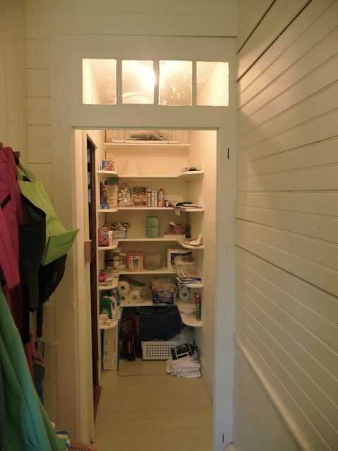 Pantry off kitchen.