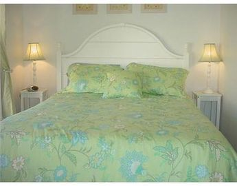 One bedroom offers a queen bed