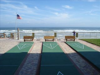 New Smyrna Beach condo photo - Get your game going on the shuffle board courts!