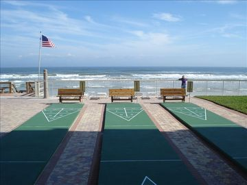 Get your game going on the shuffle board courts!