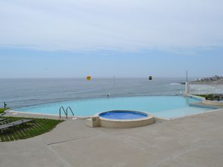 Calafia villa photo - Adult pool with vanishing edge and two hot tubs