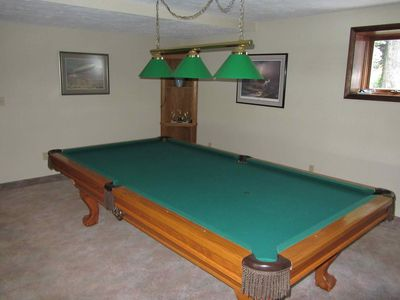 Arrowhead Lake house rental - Ball and Claw leg pool table for the pool sharks
