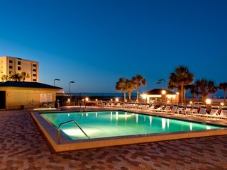 Heated pool is just steps away from the beach - Islander Destin condo vacation rental photo