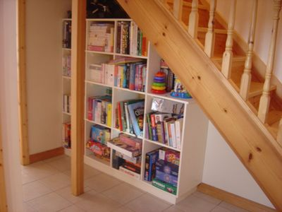Mini library in hall