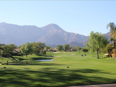 La Quinta house rental - Number 16 fairway of the Robert Trent golf course where our house is located