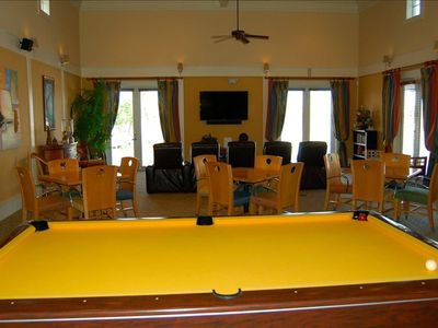 Billiards-room with flat screen TV.  Great way to have fun & beat the heat.